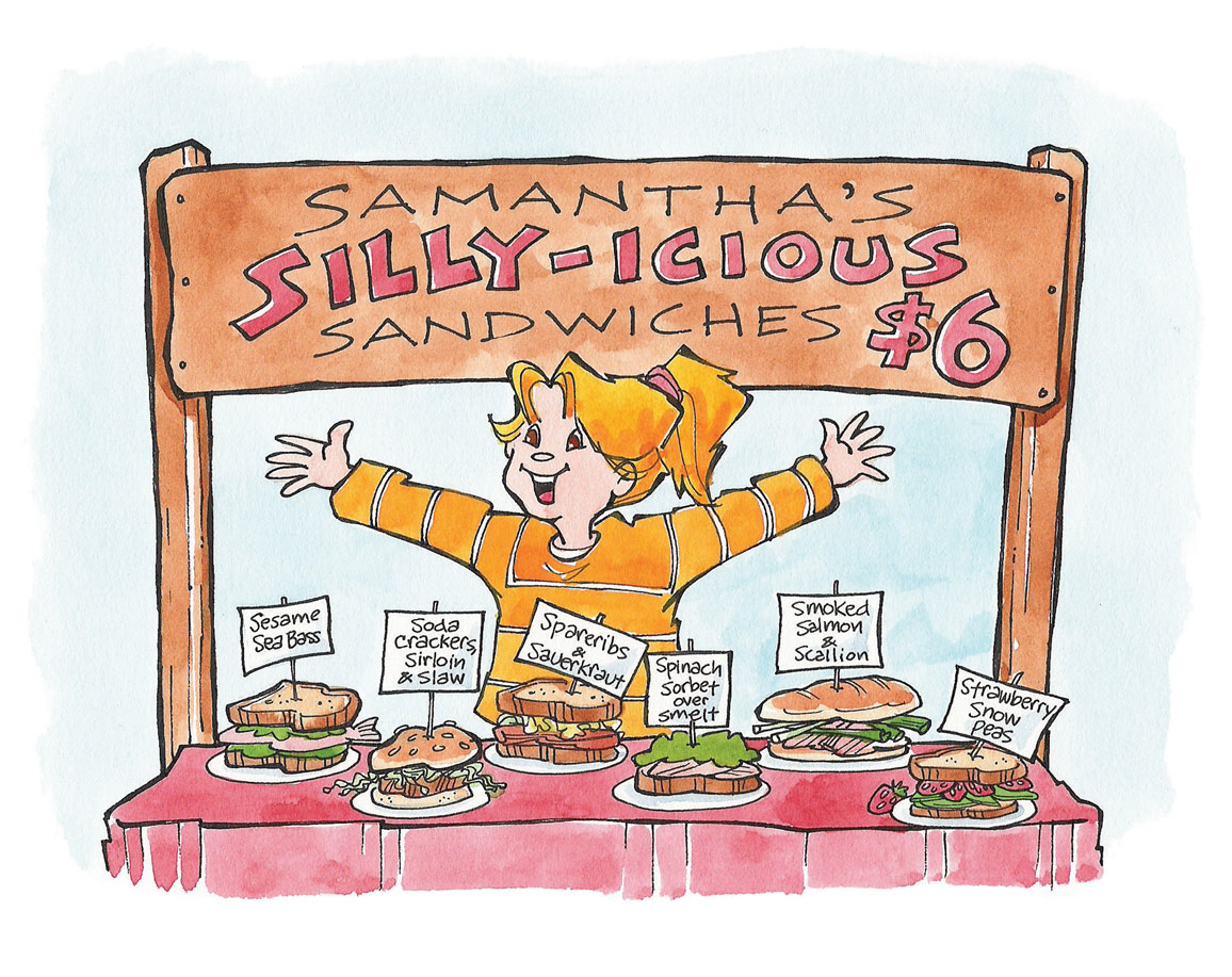 Samantha's Silly-icious Sandwiches Tina Powell